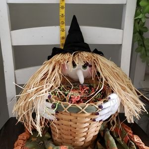 None Holiday - Halloween Witch Hollding A Basket Handmade